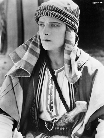 Rudolph Valentino Portrait in Arabic Costume Photo by  Movie Star News