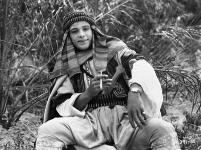 Rudolph Valentino as The Sheik Photo by  Movie Star News