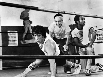 Sylvester Stallone Working out in a Classic Movie Scene Photo by  Movie Star News