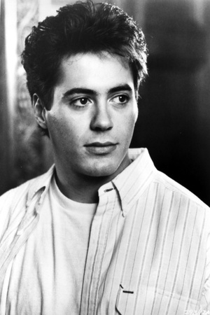 Robert Downey in White With Black and White Background Photo by  Movie Star News