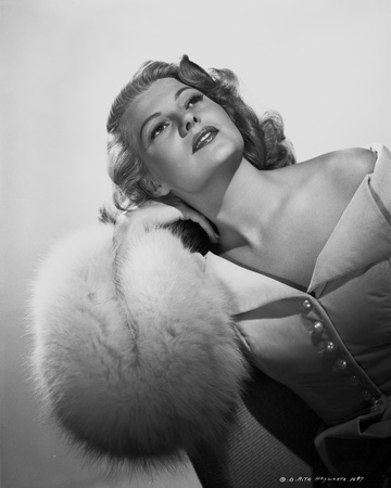 Rita Hayworth Posed with a White Background Photo by Robert Coburn