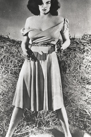 Jane Russell in Dress Black and White Portrait Photo by  Movie Star News
