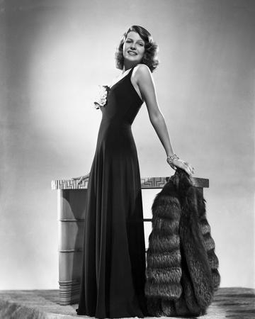 Rita Hayworth Posed in Black Dress Photo by Robert Coburn