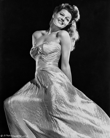 Rita Hayworth smiling With a Beautiful Gown Photo by Robert Coburn