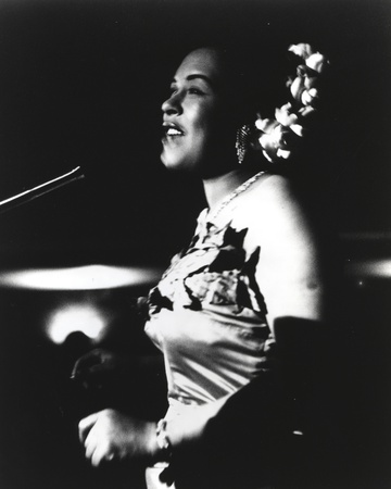 Billie Holiday in Gown singing Photo by  Movie Star News