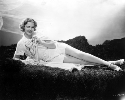 Eleanor Powell Lying on a Furry Cloth Photo by  Movie Star News