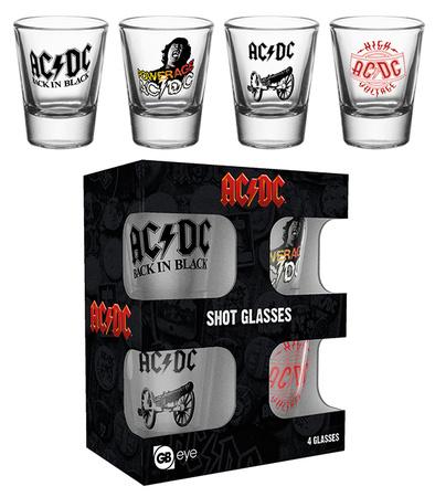 AC/DC Shot Glass Set Novelty