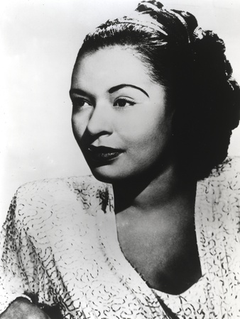 Billie Holiday Looking Away wearing Lace Dress Portrait with White Background Photo by  Movie Star News
