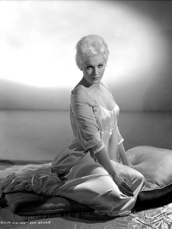 Kim Novak wearing See-Through Black and White Portrait Photo by  Movie Star News
