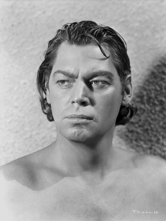 Johnny Weissmuller Looking Away and Topless in a Close Up Portrait Photo by  Movie Star News