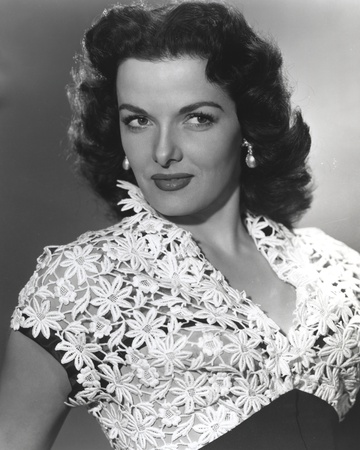 Jane Russell Posed in White Lace Top Short Sleeve Dress Photo by  Movie Star News