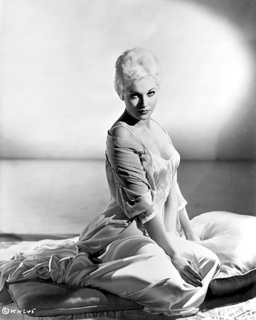 Kim Novak in See-Through Dress Black and White Portrait Photo by  Movie Star News
