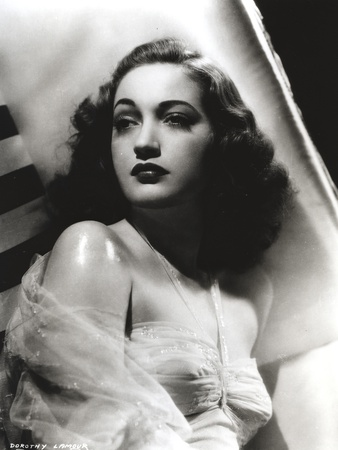 Dorothy Lamour Looking Away in Classic with Netted Shawl Photo by  Movie Star News
