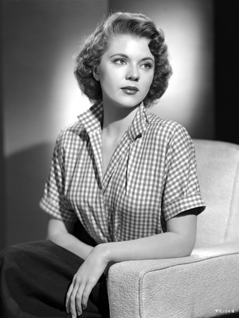 Peggy Castle Seated in Checkered Polo Looking Away Portrait Photo by  Movie Star News!