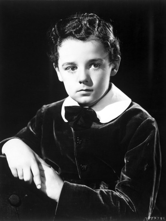 Freddie Bartholomew Close Up Portrait in Black and White Photo by  Movie Star News