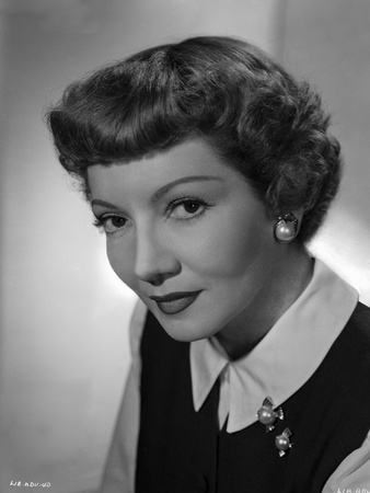 Claudette Colbert Posed in Black Blazer with White Long Sleeve Photo by  Movie Star News