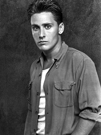 Estevez. Emilio in polo shirt With Black Background Photo by  Movie Star News