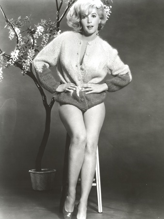 Stella Stevens Posed in Sweat Shirt Classic Portrait Photo by  Movie Star News