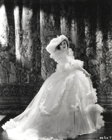 Dolores Del Rio Posed in Feather Gown in Black and White Photo by  Movie Star News