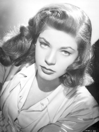 Lauren Bacall Close Up Portrait in Black and White Photo by  Movie Star News