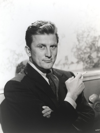 Kirk Douglas in Black Suit with Cigarette Portrait Photo by  Movie Star News