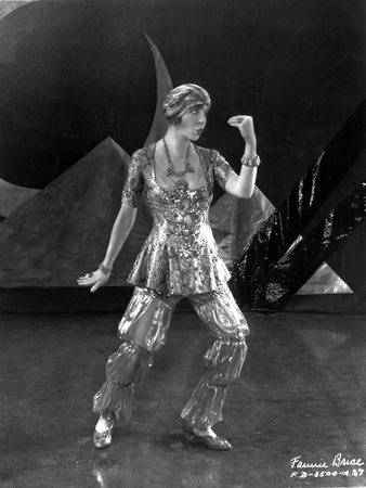 Fannie Brice Performing in Black and White Portrait Photo by  Movie Star News