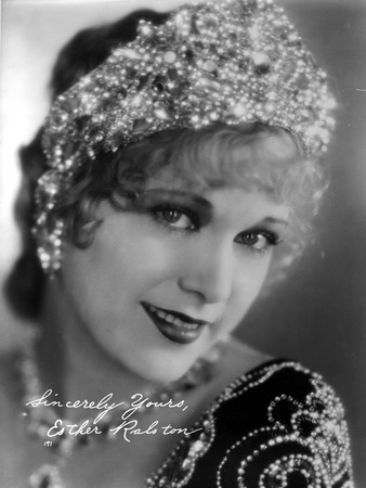 Esther Ralston on an Embroidered Top and Head Dress Photo by  Movie Star News