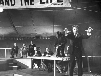 Elmer Gantry Group Posed Scene in Black and White Photo by  Movie Star News