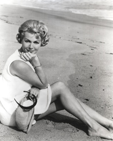 Lana Turner Portrait in White Dress in the Sand Photo by  Movie Star News