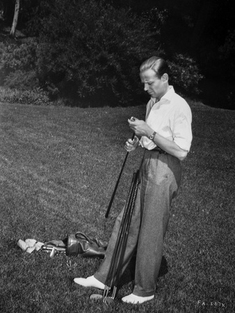Fred Astaire Holding Golf Club Black and White Photo by J Miehle