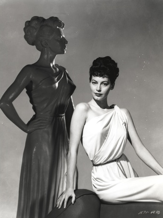Portrait of Ava Gardner posed in Gladiator Dress Photo by  Movie Star News