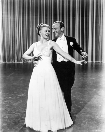 Fred Astaire and Ginger Rogers Dancing in Stage Photo by  Movie Star News