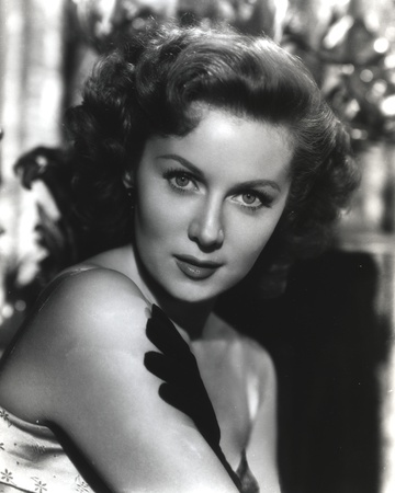 Rhonda Fleming Posed in Black and White Portrait Photo by  Movie Star News