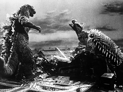 Gigantis The Fire Monster Classic Movie Scene Photo by  Movie Star News