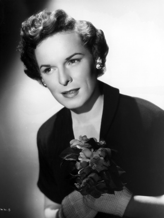 Mercedes McCambridge Portrait in Black and White Photo by  Movie Star News