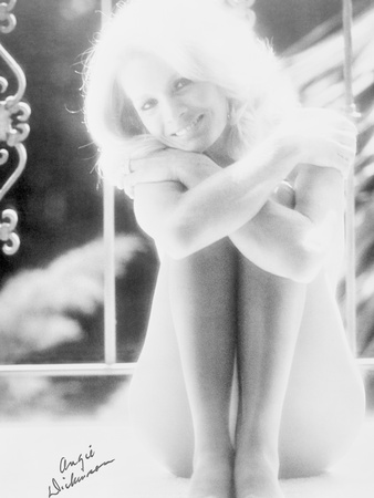 Angie Dickinson Nude Black and White Portrait Photo by  Movie Star News