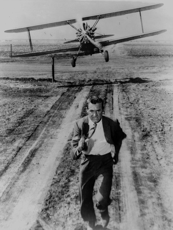 North By Northwest Running Scene in Black and White Photo by  Movie Star News