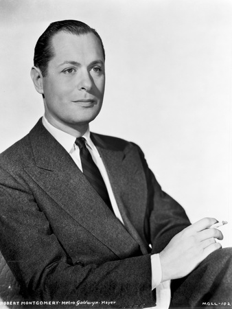 Robert Montgomery in Black With White Background Photo by  Movie Star News