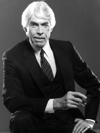 James Coburn in Black Suit With Black Background Photo by  Movie Star News