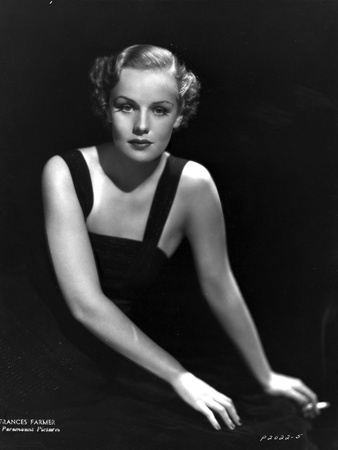Frances Farmer Posed in Dress, Seated on Floor Photo by  Movie Star News