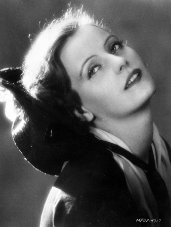 Greta Garbo Head Leaning Backward Pose Portrait Photo by  Movie Star News