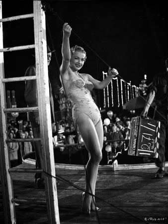 Anne Baxter on a Swimsuit Dancing and smiling Photo by  Movie Star News