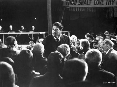 Elmer Gantry Talking Scene in Black and White Photo by  Movie Star News