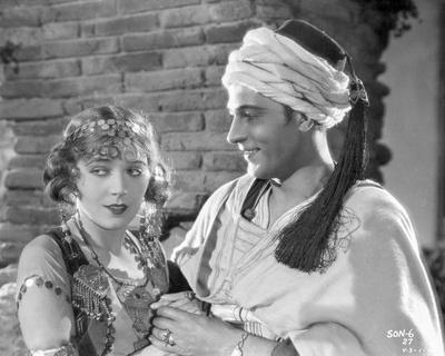 Rudolph Valentino Portrait in White Arabic Costume Photo by  Movie Star News