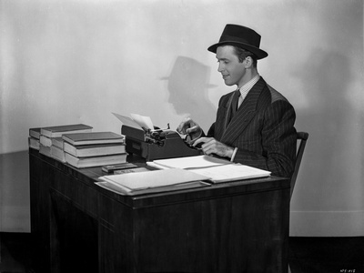 James Stewart Working in Desk Classic Portrait Photo by Scotty Welbourne