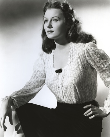 Rhonda Fleming Looking Side Ways in White Blouse Photo by  Movie Star News