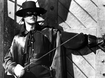 Guy Williams Riding Horse in Black Zorro Attire Photo by  Movie Star News