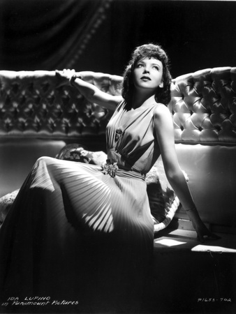 Ida Lupino on a Silk Dress sitting and Reclining Photo by  Movie Star News