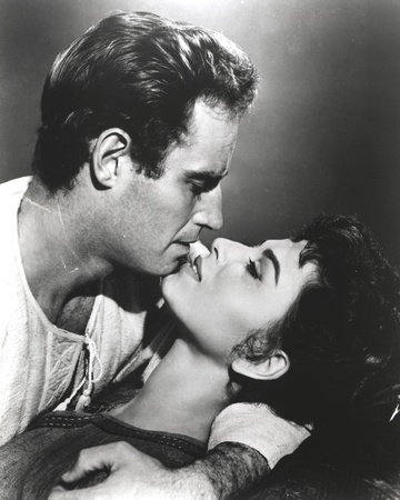 Portrait of Charlton Heston in Kissing Scene Photo by  Movie Star News