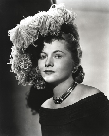 Joan Fontaine wearing a Detailed Hat in Portrait Photo by  Movie Star News